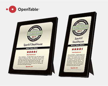 OpenTable Review Plaques